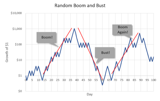 Random Boom and Bust